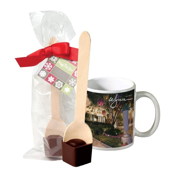 Promotional Full Color Mug With Hot Cocoa On A Spoon