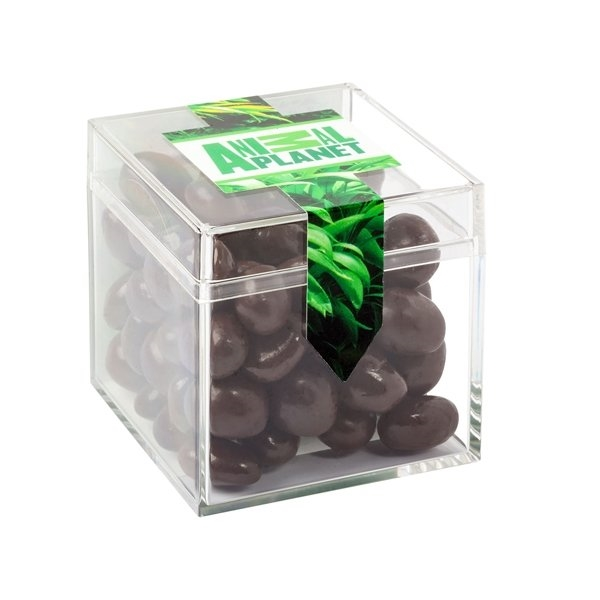 Promotional Sweets Box With Dark Chocolate Almonds