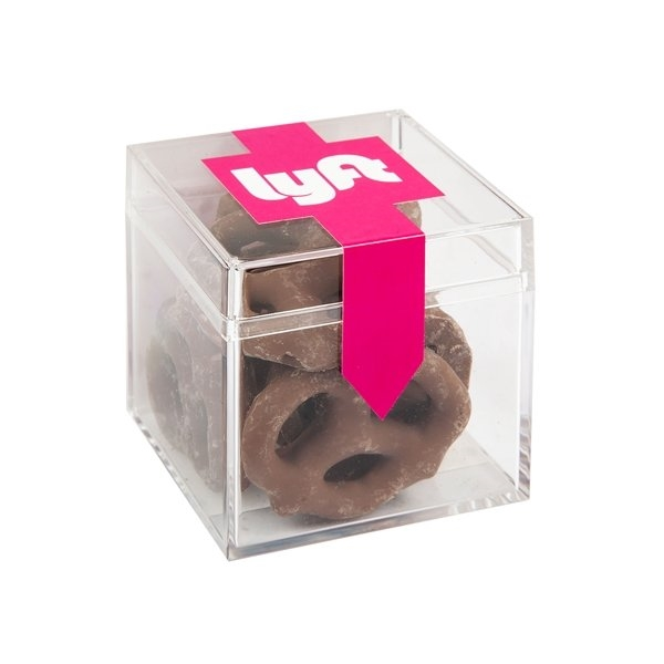 Promotional Sweets Box With Chocolate Pretzels