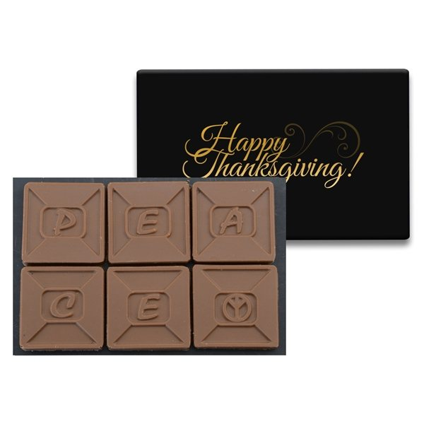 Promotional 6 Chocolate Squares In Modern Gift Box