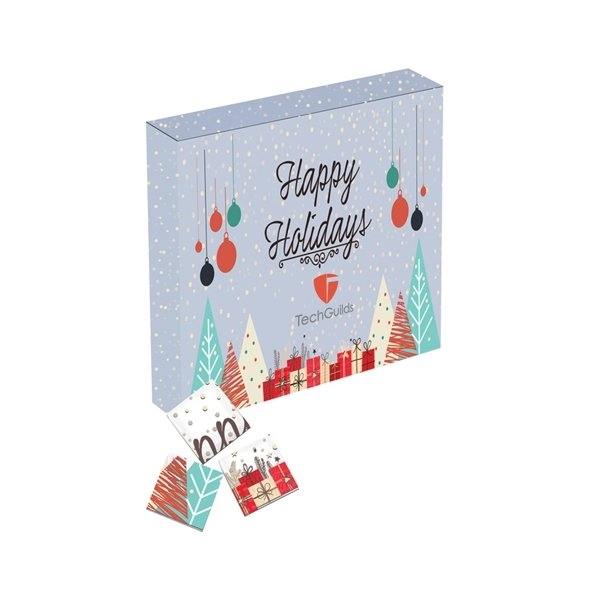 Promotional Chocolate Foiled Squares Puzzle Piece Gift Box