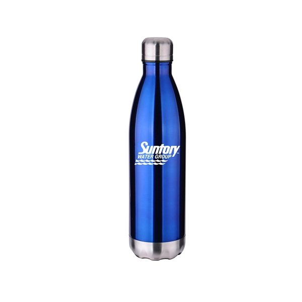 Promotional Stainless Steel 26oz Cola Bottle 11.9 h x 3.125 d