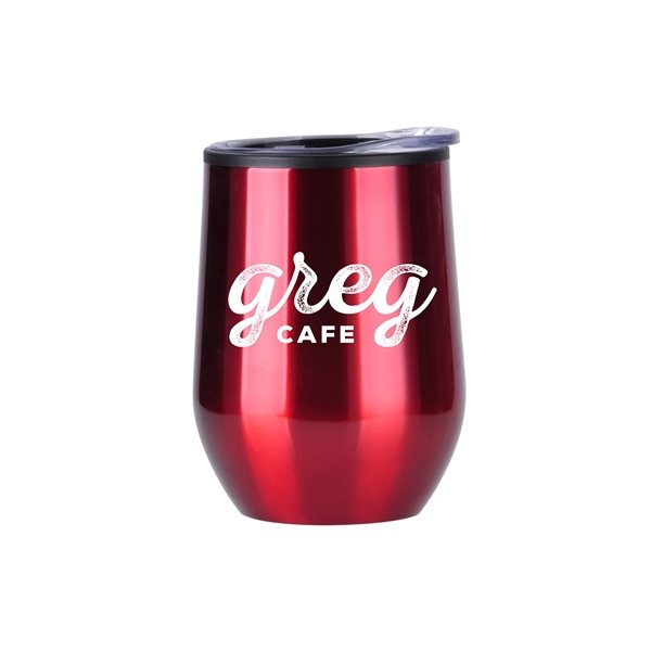 Promotional 12 oz Economy Stainless Steel Stemless Wine with Plastic lining