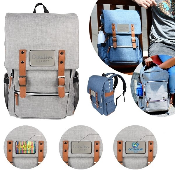 Promotional Crosshatch Backpack with Laptop Compartment