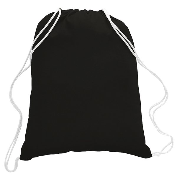 Promotional 5.5 oz Cotton Canvas Drawstring Backpack