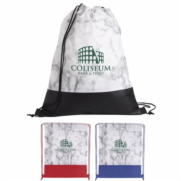 Promotional Marble Drawstring Backpack