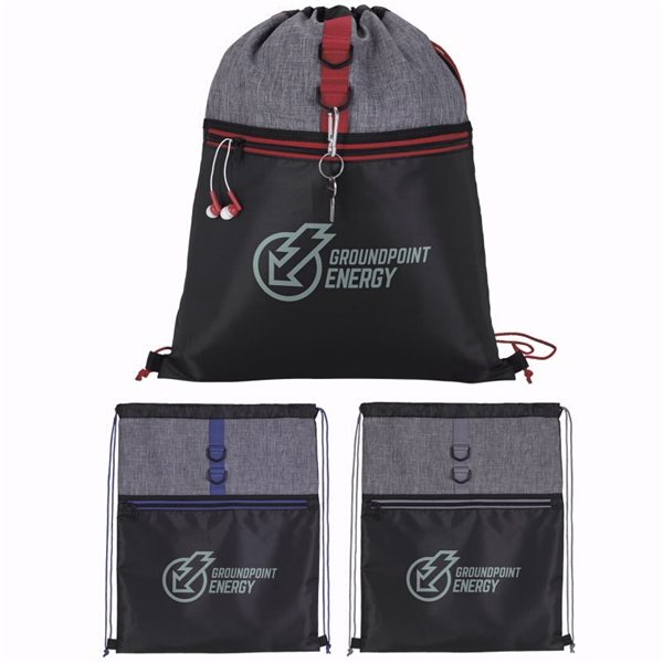 Promotional Stand Alone Drawstring Backpack