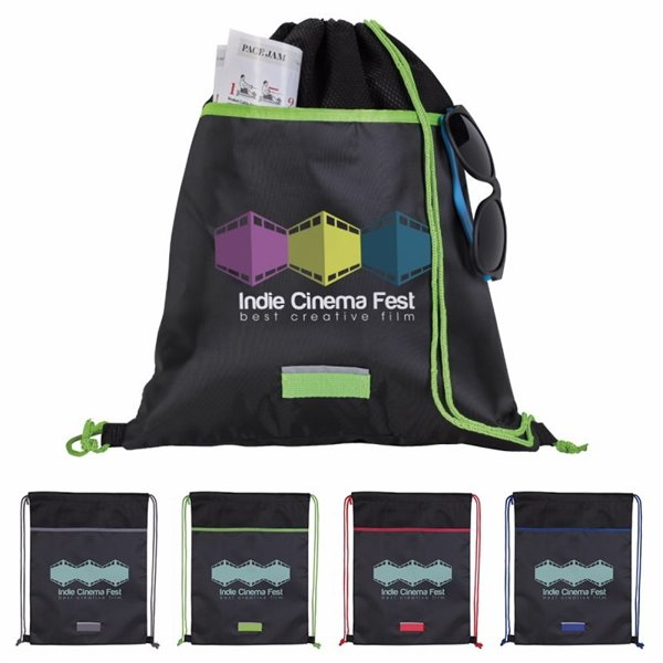 Promotional Outer Space Drawstring Backpack