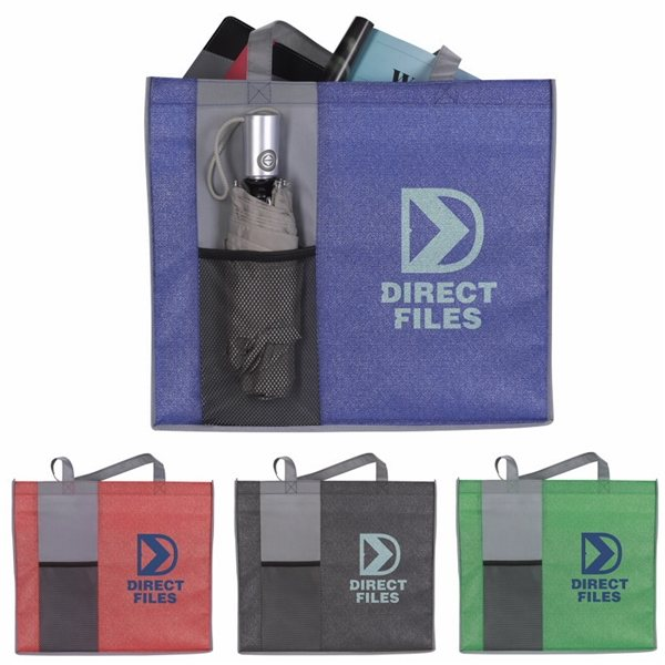 Promotional Non - Woven Shimmer Pocket Tote