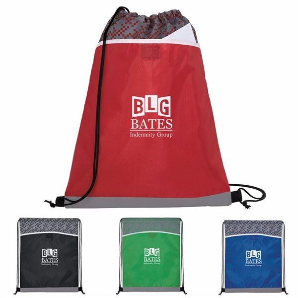 Promotional Connect the Dots Drawstring Backpack