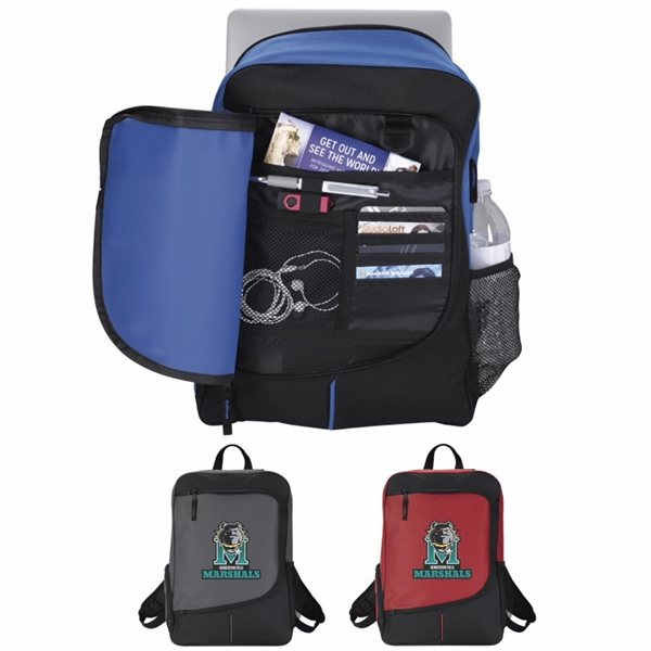 Promotional Poly Zip Side Backpack