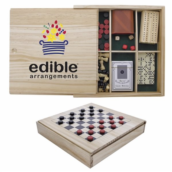 Promotional Classic Wooden Game Set