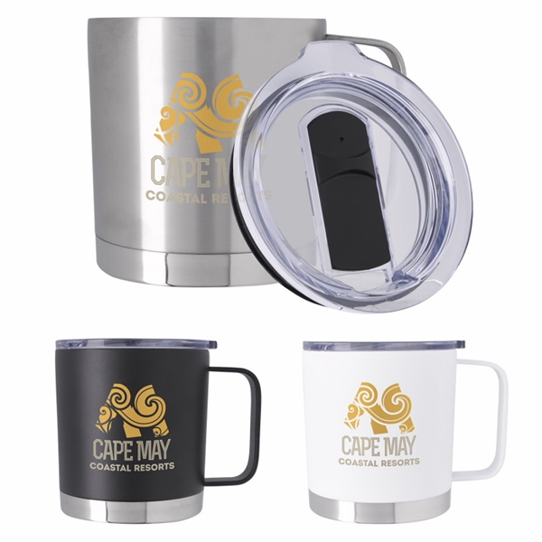 Promotional Double Wall Camper Metal Mug - 16 Oz.