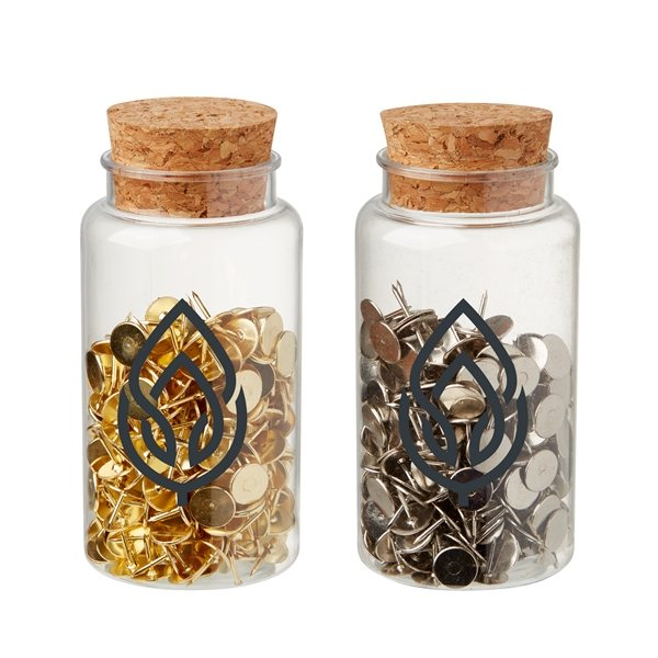 Promotional Push Pins in Jar