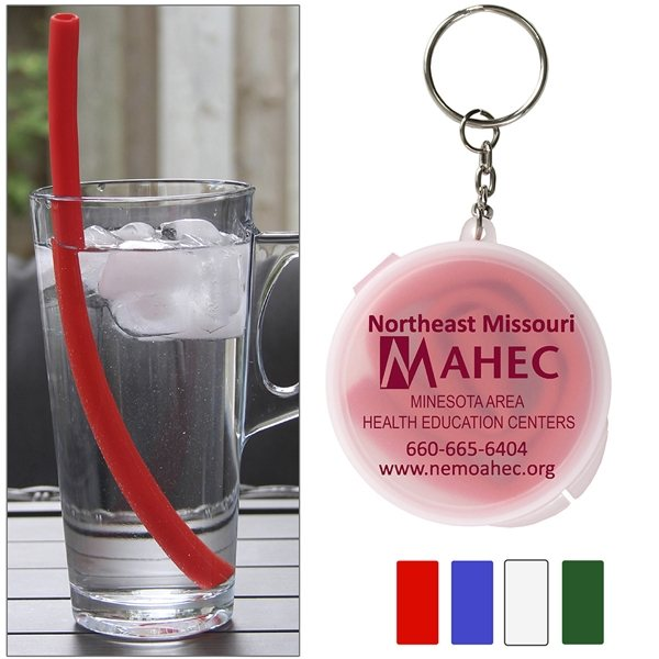 Promotional Eco - Straw 10 Reusable Silicone Straw
