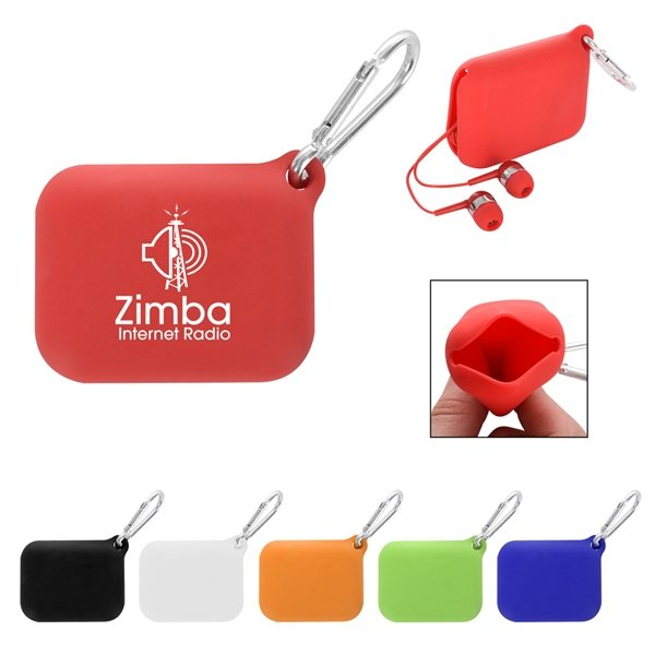 Promotional Carabiner Squeeze Tech Pouch
