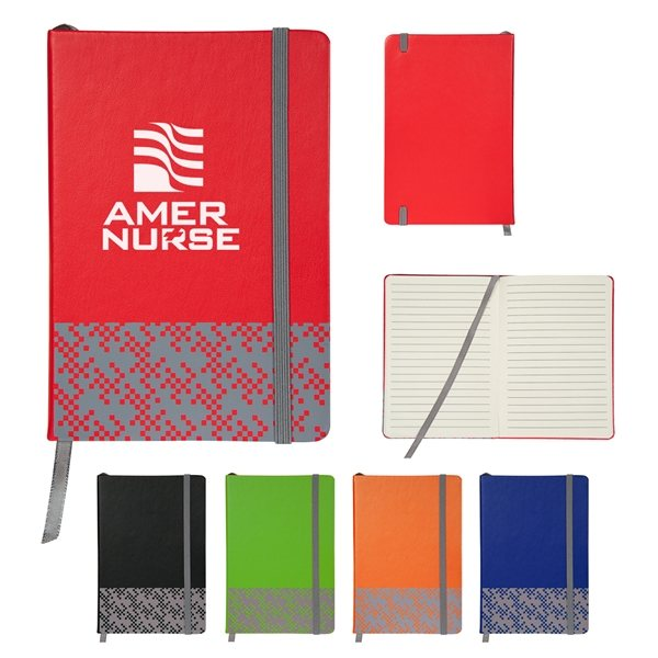 Promotional Bitmap Journal with Strap Closure