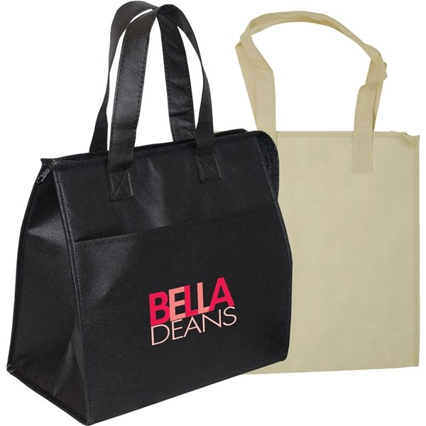 Promotional Non - Woven Insulated Grocery Tote