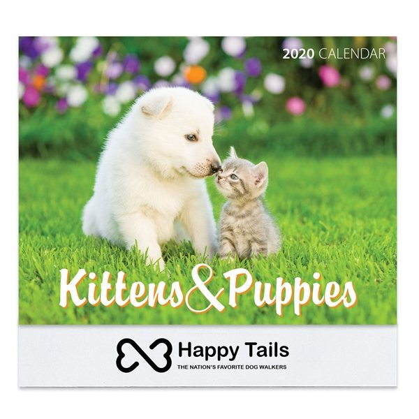 Promotional 2020 Kittens Puppies Wall Calendar