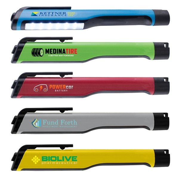 Promotional 6- LED Light Bar Flashlight - ColorJet