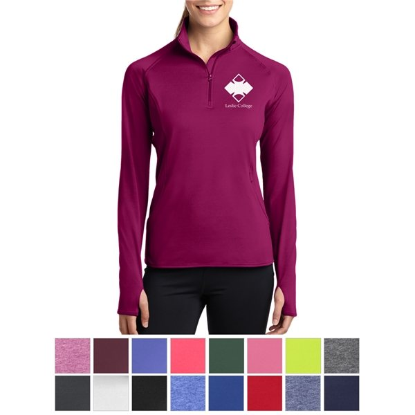 Promotional Sport - Tek(R) Ladies Sport - Wick(R) Stretch 1/2- Zip Pullover