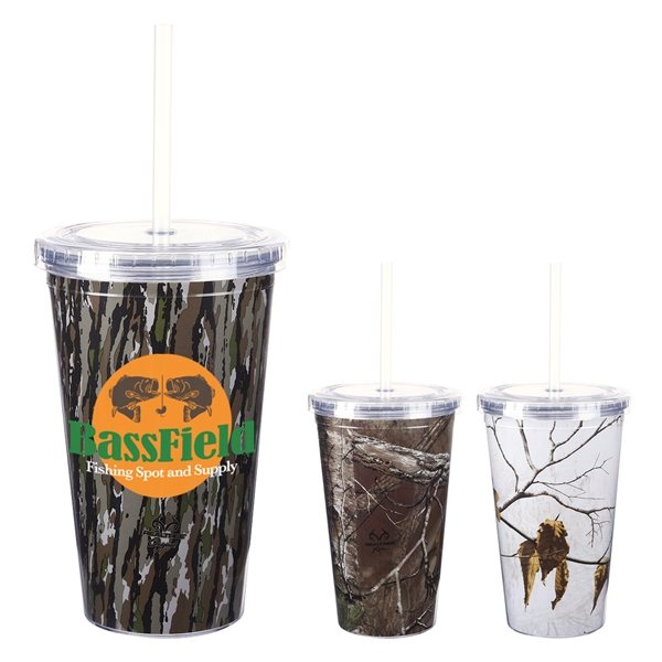 Promotional 16 Oz. Realtree(R) Newport Acrylic Tumbler With Insert