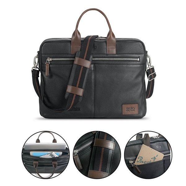 Promotional Solo(R) Shorewood Leather Briefcase