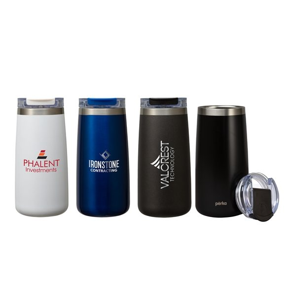 Promotional Perka(R) Erie 16 oz Dbl Wall Stainless Steel Tumbler