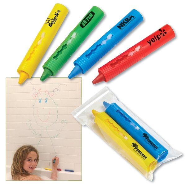 Promotional 2- PACK BATHTUB CRAYON SETS IN POLYBAG