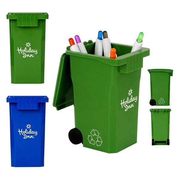 Promotional Recycle Bin Pen Holder