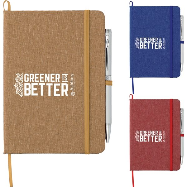 Promotional 5 x 7 Recycled Cotton Bound Notebook -