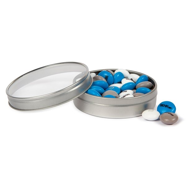 Promotional Silver Tins - No Lid Imprint - 1.5oz. Personalized MMS(R)