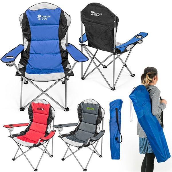 Promotional Go - Everywhere Padded Fold - Up Lounge Chair
