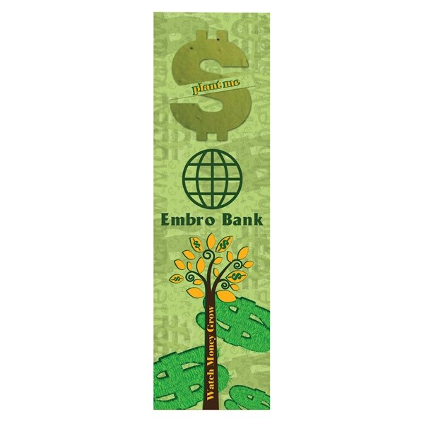 Promotional Dollar Sign Seed Shape Bookmark