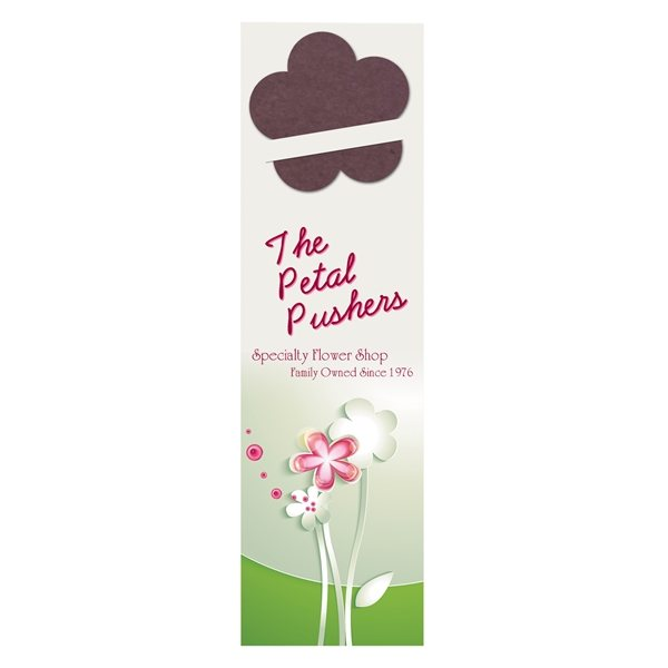 Promotional Flower Seed Shape Bookmark