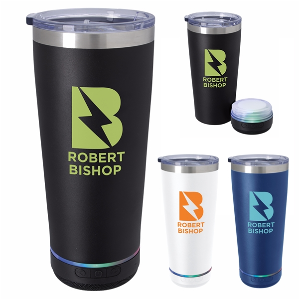 Promotional Tumbler with Bluetooth(R) Speaker - 20 oz
