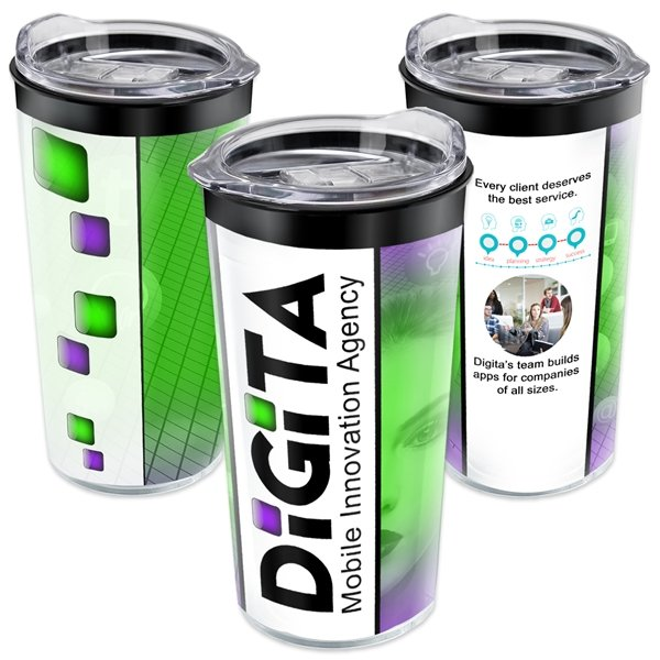 Promotional New Acrylic Tumbler Clear Lid