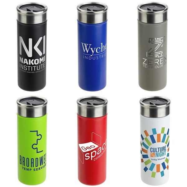 Promotional Solari 18 oz Copper - Lined Powder - Coated Insulated Tumbler
