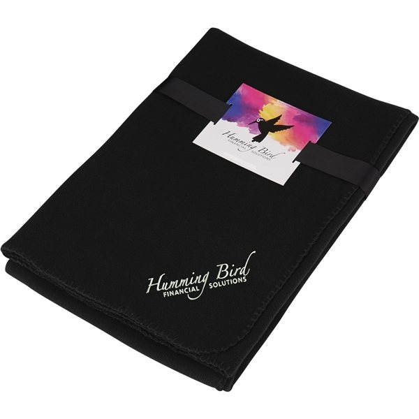 Promotional Ultra Soft Fleece Blanket with Full Color Card