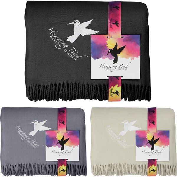 Promotional Oversized Lightweight Throw Blanket with FC Card