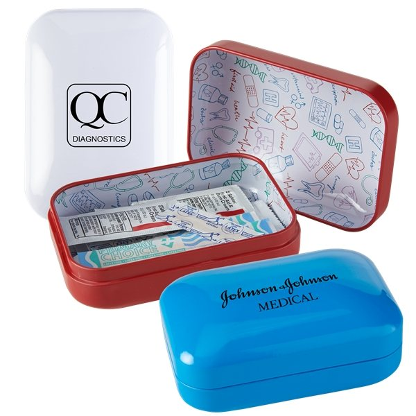 Promotional Rapid Care(TM) Tin First Aid Kit