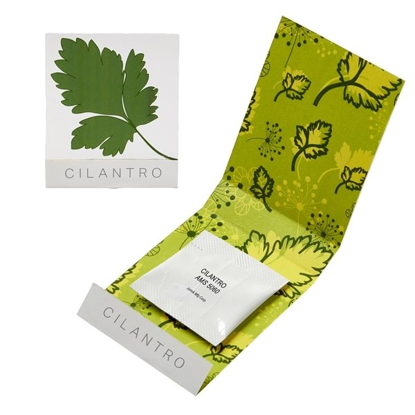 Promotional Cilantro Seed Matchbook
