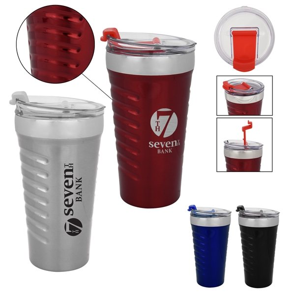 Promotional 16 oz Ripple Effect Stainless Steel Tumbler