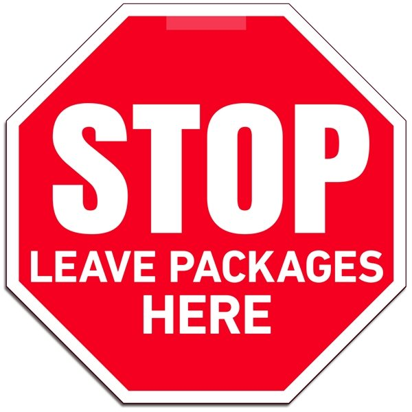 Promotional Leave Packages Window Sign - 8x8 Octagon