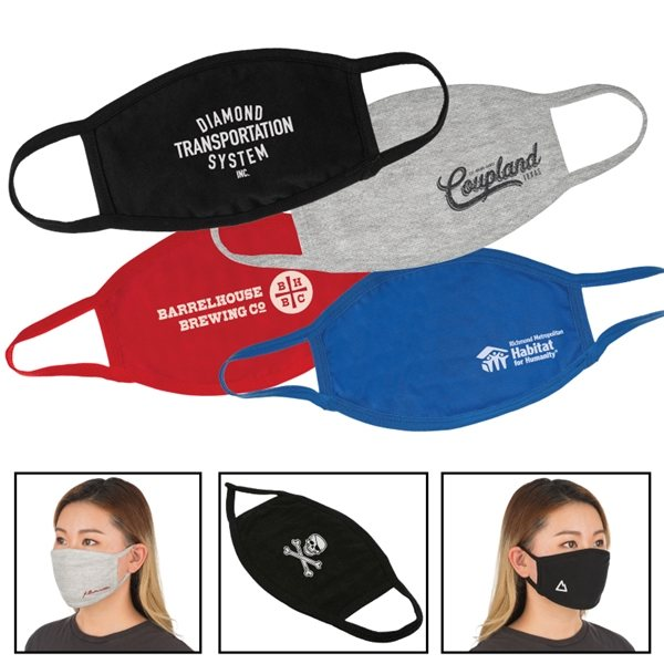 Promotional 4 Ply Reusable Cotton Face Mask