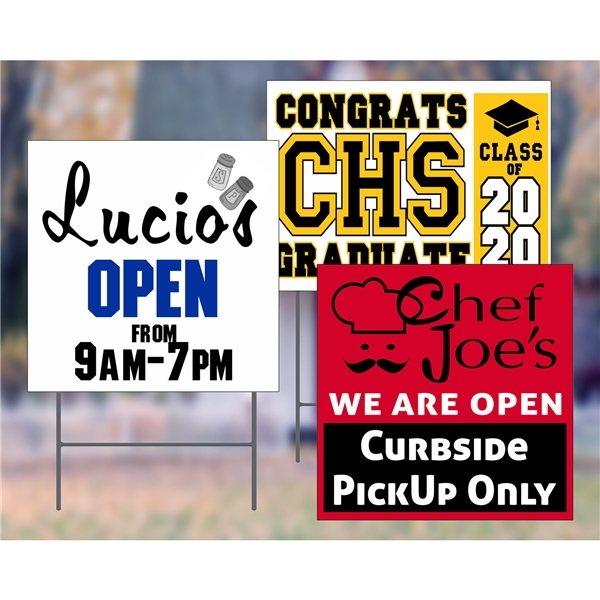 Promotional Full Color Corrugated Plastic Signs - Stock Designs