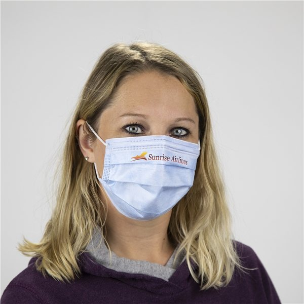 Promotional Custom Printed 3- Ply Face Mask