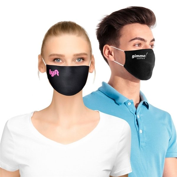 Promotional Standard Flat Cotton Face Mask with Pocket for Filter Insert