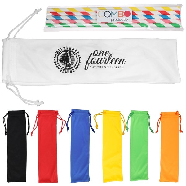 Promotional 5pc Paper Straw Kit