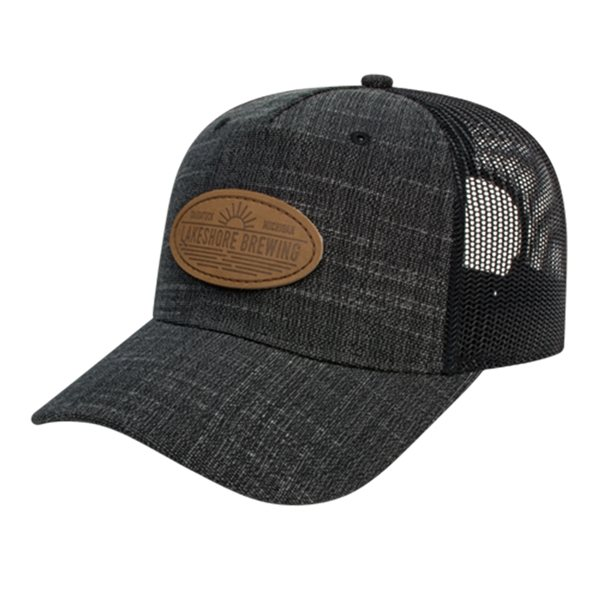 Promotional Five Panel Poly / Rayon with Mesh Back Cap